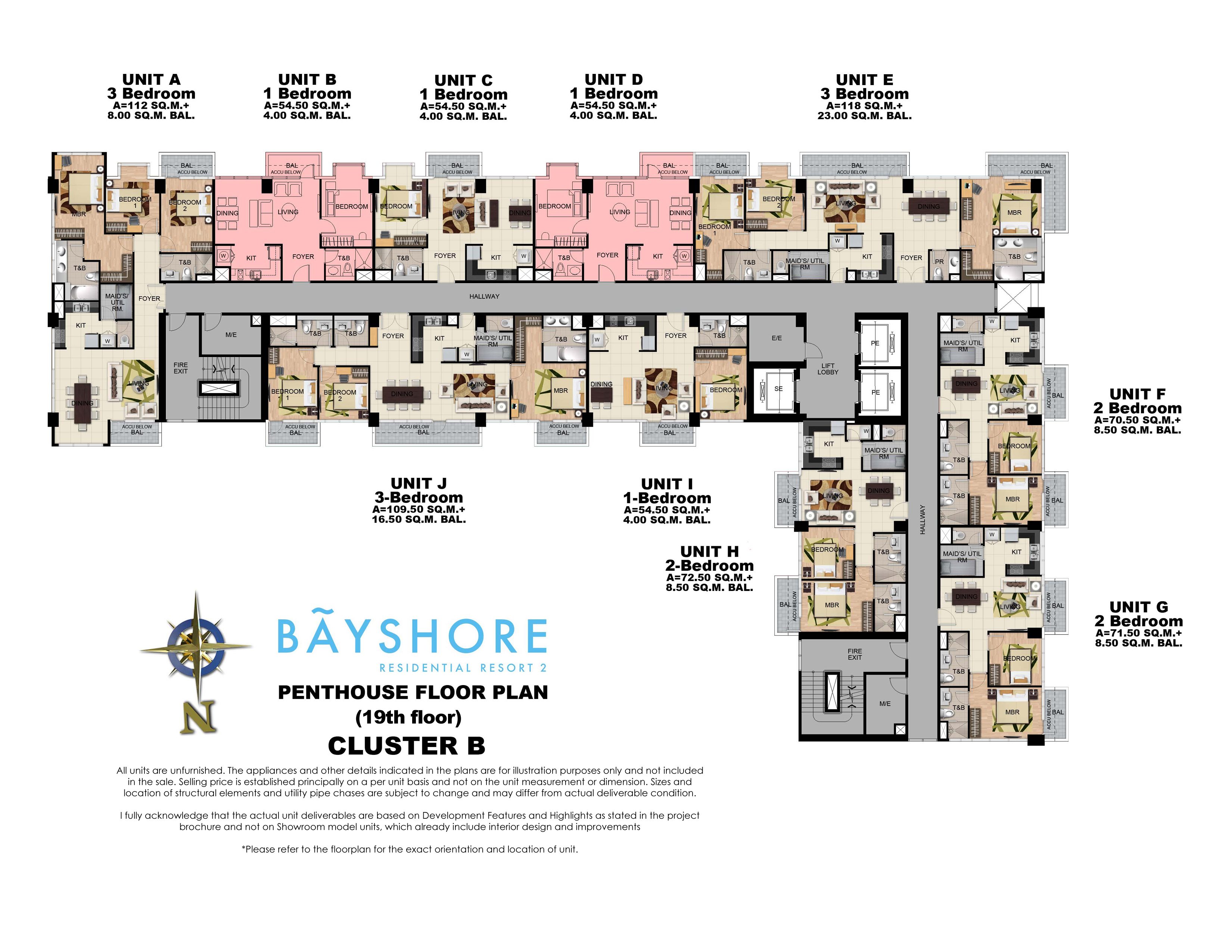 Residential Floor Plan Bayshore Residential Resort